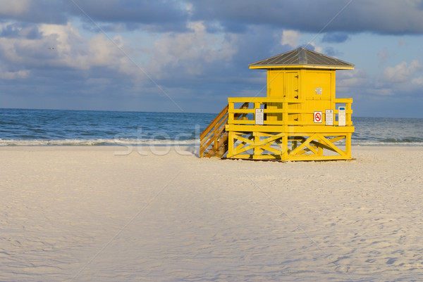 Lifeguard Hut Yellow Stock photo © saje