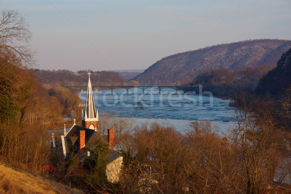 Harpers Ferry Church Overlooking River Stock photo © saje