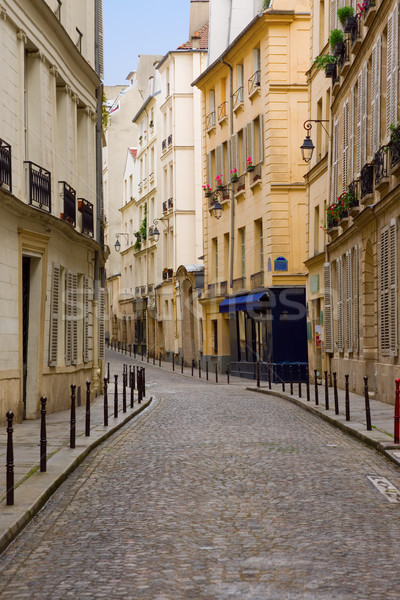 Europe Deserted Street in Paris Stock photo © saje
