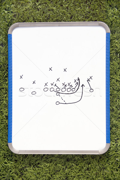 Football Clipboard with Play Diagram Stock photo © saje