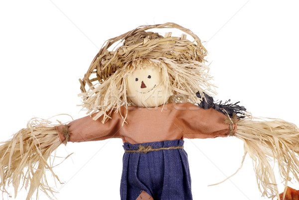 Halloween Scarecrow with Straw Hat Stock photo © saje