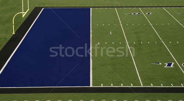 Football Field Blue End Zone Stock photo © saje