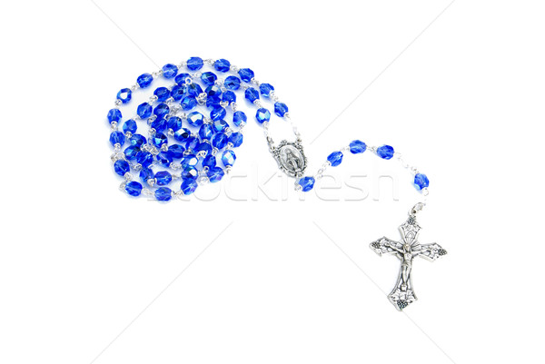 Rosary Blue on White Stock photo © saje
