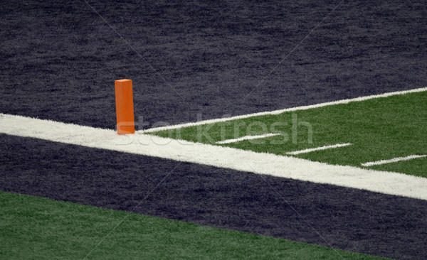 Blue End Zone and Orange Pylon Stock photo © saje