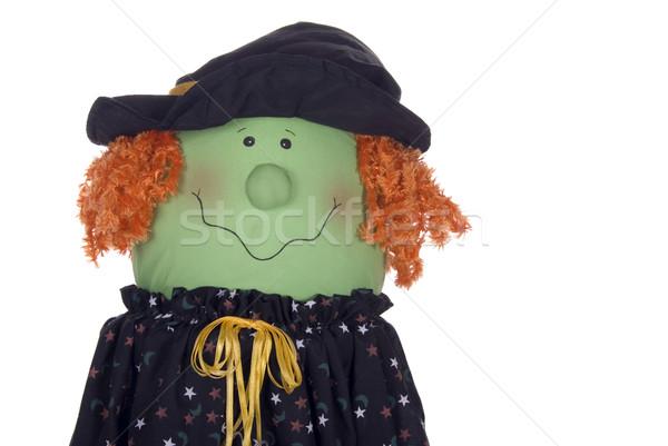 Halloween witch charakter cute dekoracji pomarańczowy Zdjęcia stock © saje