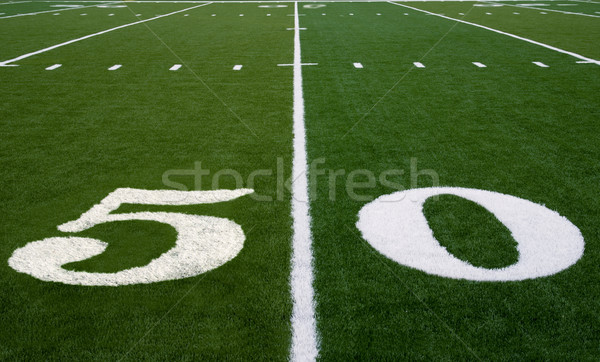 Football Field 50 Yard Line Stock photo © saje