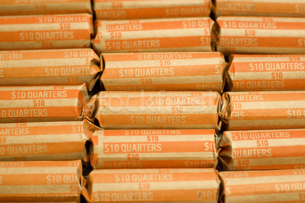 Coin Wrappers Quarters Stock photo © saje