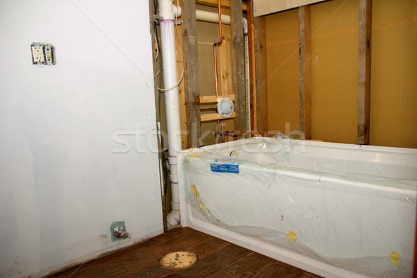 Bathroom Remodel Tub and Floor Stock photo © saje