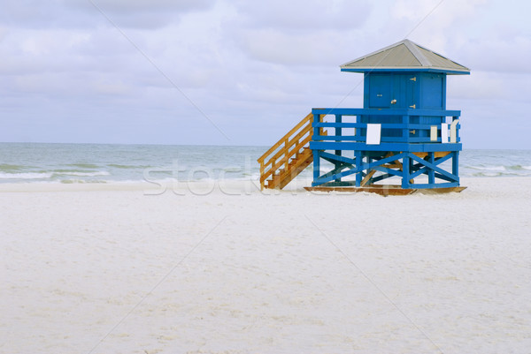 Lifeguard Hut Blue Stock photo © saje
