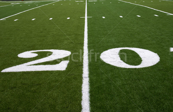 Football Field 20 Yard Line Stock photo © saje