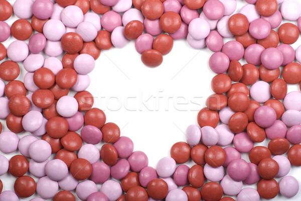 Valentinsdag candy Herz Rahmen Stock foto © saje