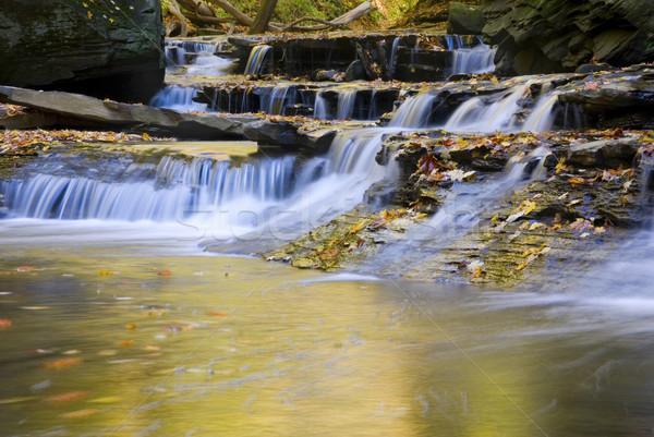 Wenig Pool Landschaft Wasserfälle Herbst Natur Stock foto © saje