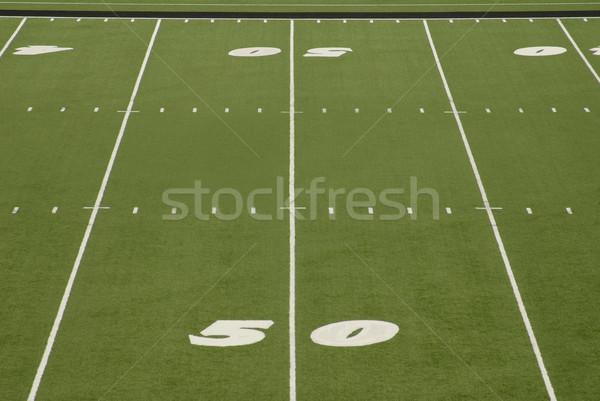 Football Field 50 Yard Line Stadium Stock photo © saje