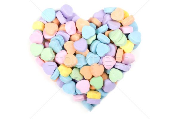 Valentinsdag candy Herz mehrfarbig Liebe Hintergrund Stock foto © saje