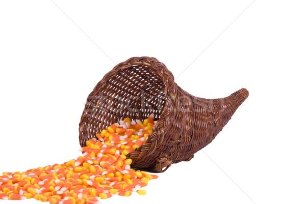 Cuerno de la abundancia dulces maíz halloween textura Foto stock © saje