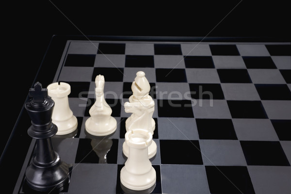 Chess King Cornered Stock photo © saje
