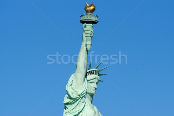 Estatua libertad cabeza antorcha perfil primer plano Foto stock © saje
