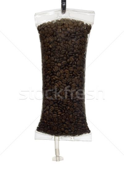 Coffee IV Beans in Bag Full Frame Stock photo © saje