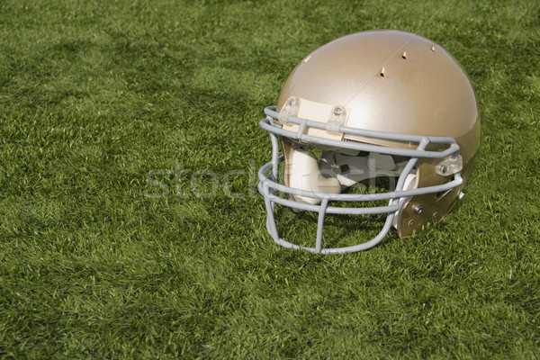 Voetbal helm kunstmatig goud Stockfoto © saje