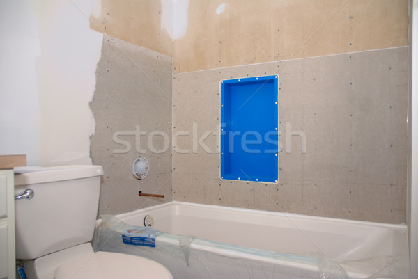 Bathroom Remodel Ready for Tile Stock photo © saje