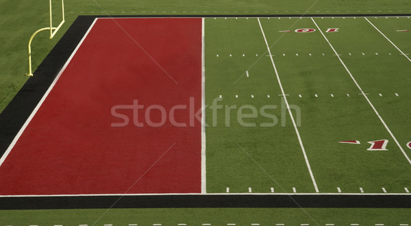 Football Field Red End Zone Stock photo © saje