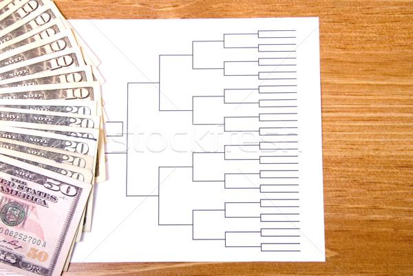 Follia soldi basket torneo legno sport Foto d'archivio © saje