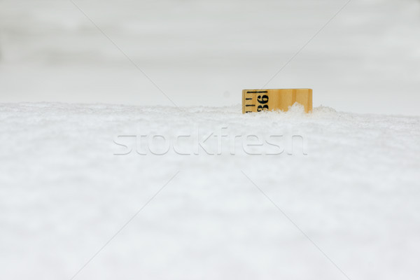 Ruler in Snow 36 Inches Close Stock photo © saje