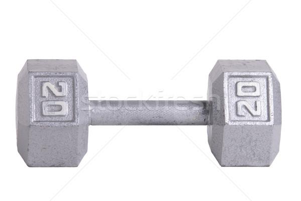Twenty pound metal dumbbell Stock photo © saje