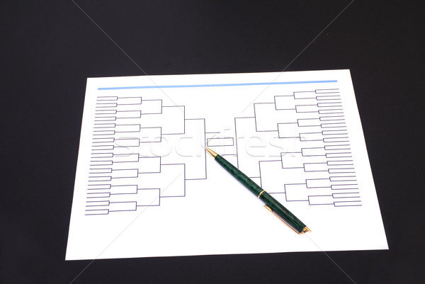 March Madness Pen and Blank Tournament Bracket Stock photo © saje
