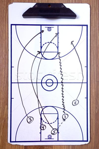 Basketball schnell Pause Diagramm schwarz Stock Stock foto © saje