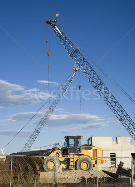 Buldozer toprak gökyüzü Metal sanayi Stok fotoğraf © saje