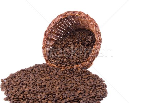 Koffie hoorn breed vol Stockfoto © saje
