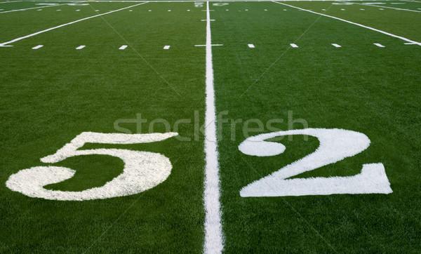 Voetbalveld lijn super bowl sport voetbal groene Stockfoto © saje
