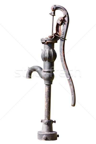 Wasser gut pumpen alten Eisen weiß Stock foto © saje
