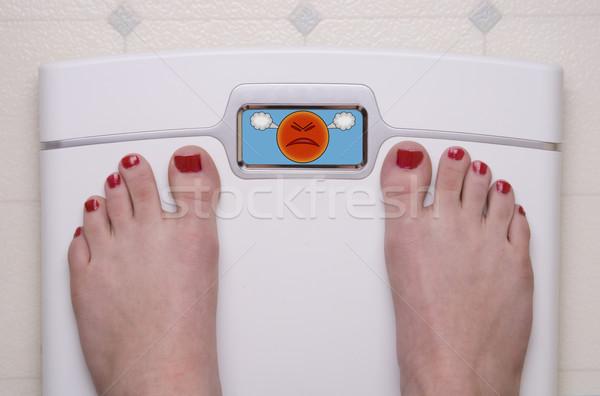 Scale with Feet Emoji Mad Stock photo © saje