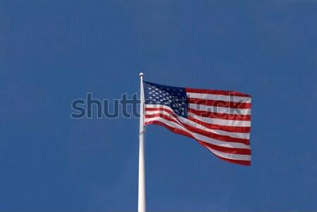 Stok fotoğraf: Amerika · Birleşik · Devletleri · bayrak · kırmızı · beyaz · mavi
