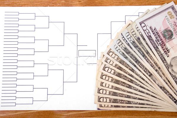 őrület pénz helyes verseny fa kosárlabda Stock fotó © saje