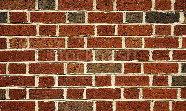 Bakstenen Rood baksteen bouw achtergronden muur Stockfoto © saje