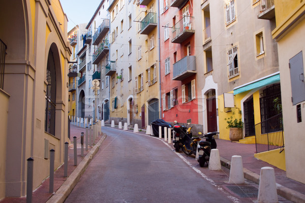 Europe Deserted Street in Nice Stock photo © saje