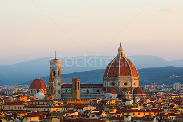 Europe FLORENCE sunrise ville Italie cathédrale Photo stock © saje