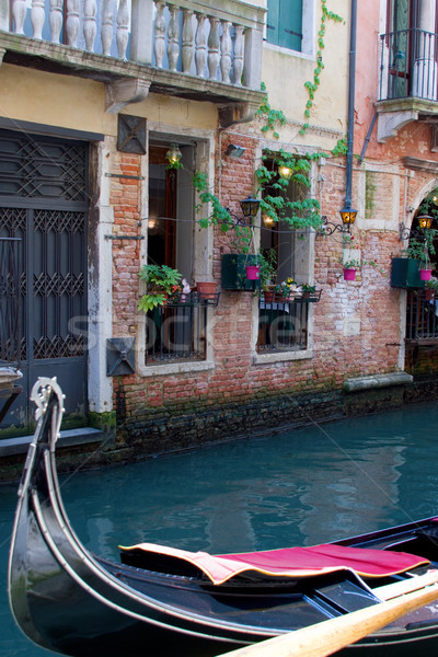 Europe Venice Quiet Canal with Gondola Stock photo © saje