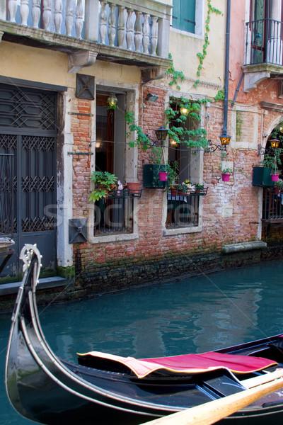 Европа Венеция тихий канал гондола воды Сток-фото © saje