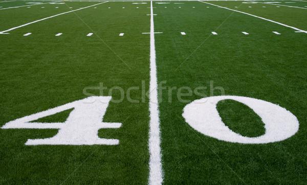 Football Field 30 Yard Line Stock photo © saje
