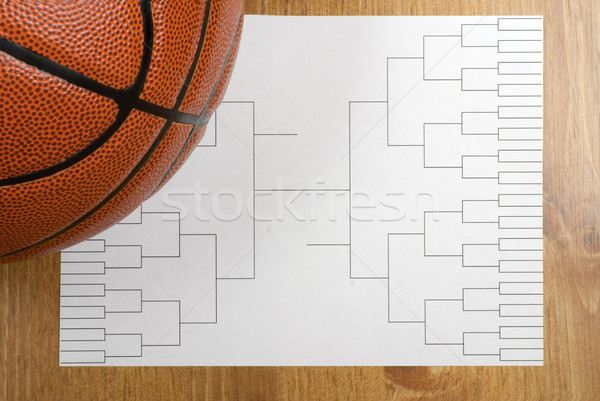 Basketball Tournament Bracket and Basketball Stock photo © saje