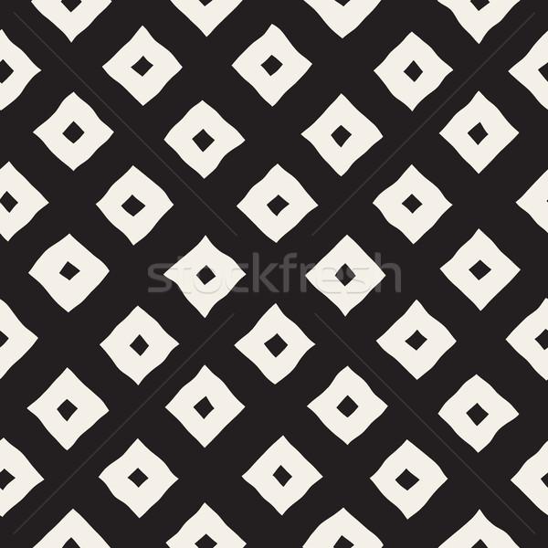 ベクトル シームレス 黒白 手描き 行 パターン ストックフォト © Samolevsky