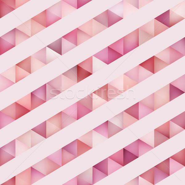 Vector sin costura diagonal líneas patrón geométrico rosa Foto stock © Samolevsky