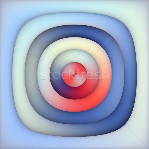 Azul rojo gradiente concéntrico círculos resumen Foto stock © Samolevsky