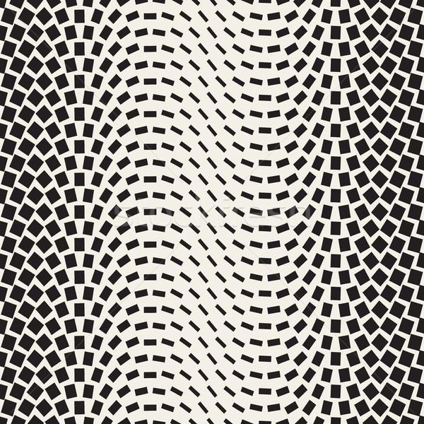 Yarım ton eğim mozaik vektör siyah beyaz Stok fotoğraf © Samolevsky