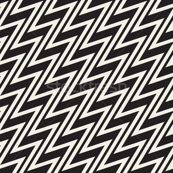 Zig-zag vettore senza soluzione di continuità bianco nero Foto d'archivio © Samolevsky