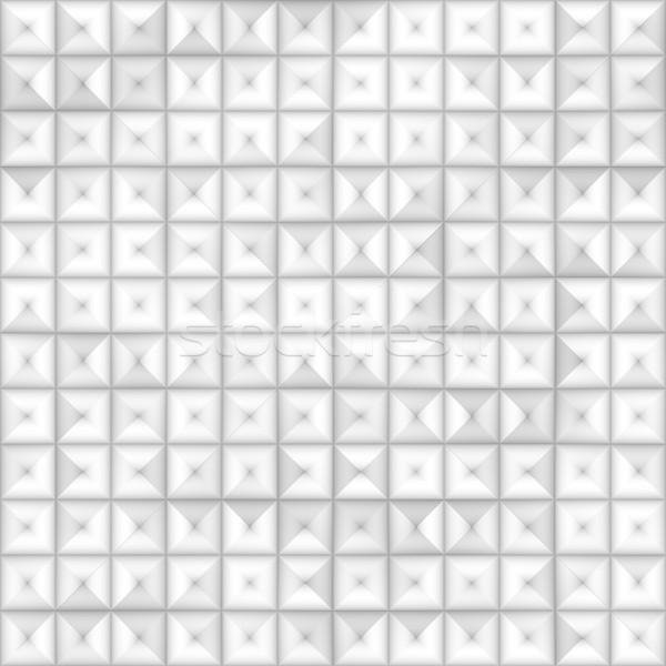 Raster Seamless Greyscale Subtle Gradient Square Tiling Geometric Square Pattern Stock photo © Samolevsky